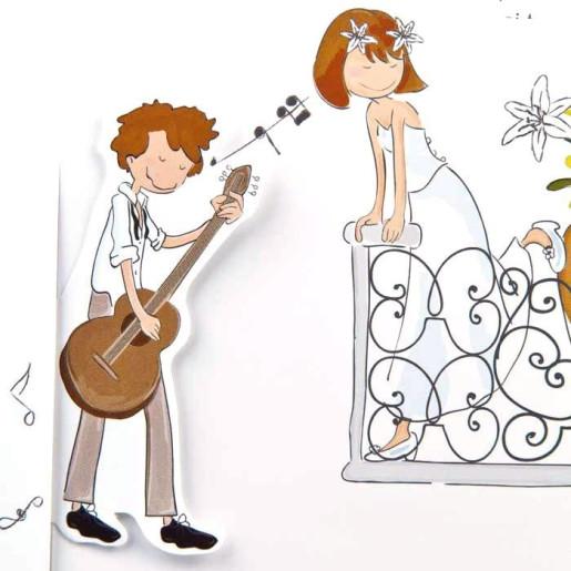 Invitatie de nunta glisanta haioasa 1051 STYLISH