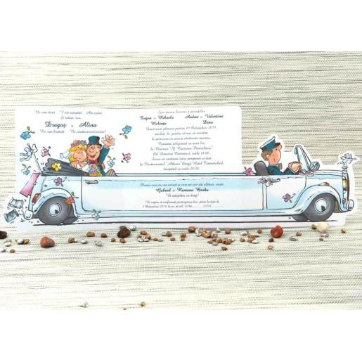 Invitatie de nunta limuzina haioasa 1052 STYLISH