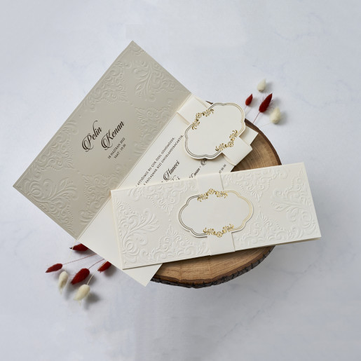 Invitatie de nunta stil baroc 1125 BUTIQLINE