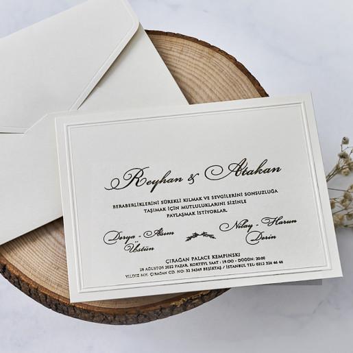 Invitatie eleganta 1154 BUTIQLINE