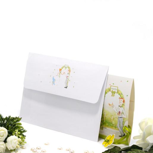 Invitatie de nunta haioasa cu mireasa si domnisoare de onoare 140014 TBZ