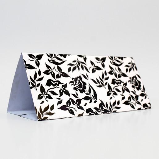 Plic pentru bani alb - negru floral 140020 TBZ