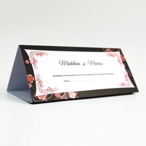 Plic pentru bani negru cu flori de cires140022 TBZ