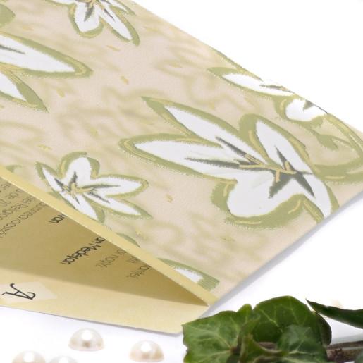 Invitatie de nunta florala cu frunze verzi 150030 TBZ