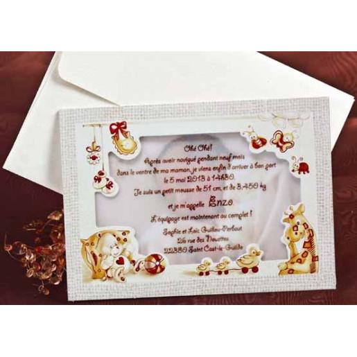 Invitatie de botez cu jucarii 15114 DELUXE