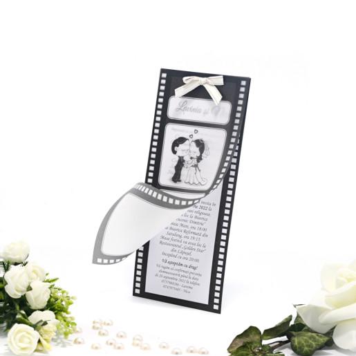 Invitatie de nunta haioasa cinema 160040 TBZ