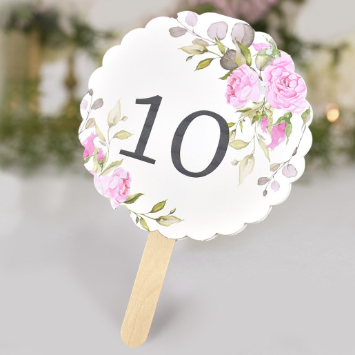 Numar de masa cu trandafiri roz 1740 CLARA