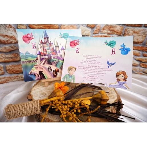 Invitatie de botez cu castel 18007B