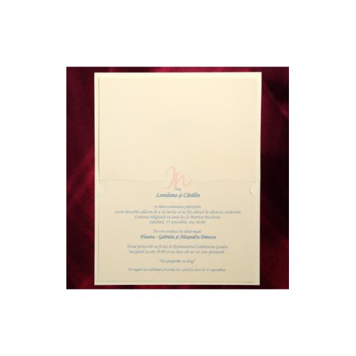 Invitatie de nunta cu catifea 150031 TBZ