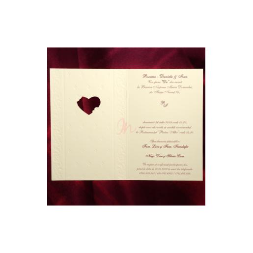Invitatie de nunta clasica florala 150032 TBZ