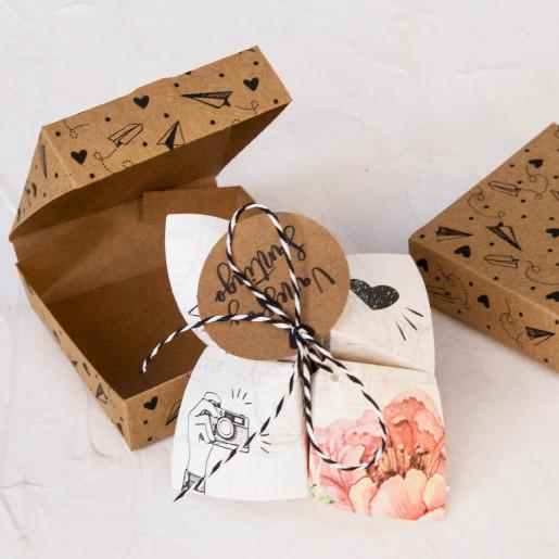 Invitatie 3D tip cutie cu capac si fundita 39824 EMMA