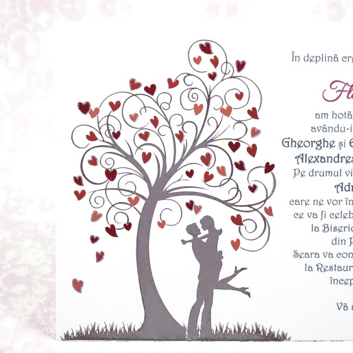Invitatie de nunta romantica moderna 20192 STYLISH