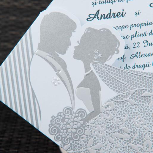 Invitatie de nunta moderna cu miri 20439 STYLISH
