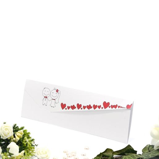 Invitatie de nunta haioasa cu inimioare rosii 2130 TBZ