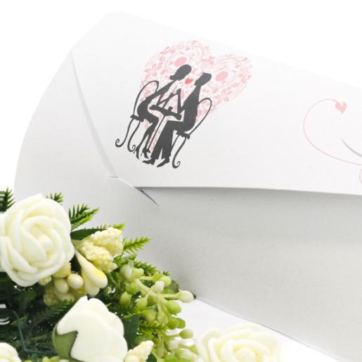 Invitatie de nunta cu miri la masa 2131 TBZ