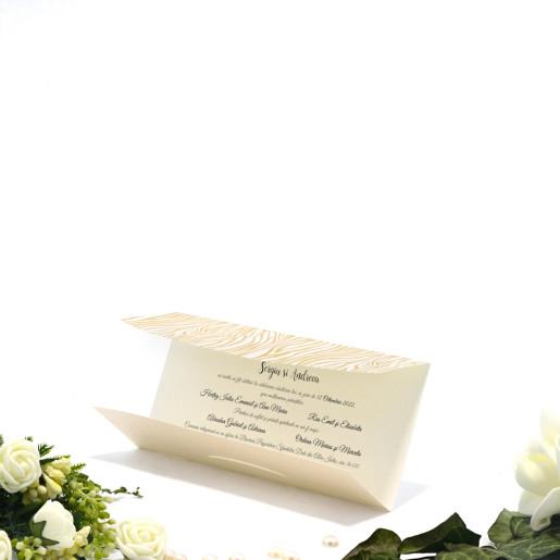 Invitatie de nunta cu insertii aurii 2173 TBZ