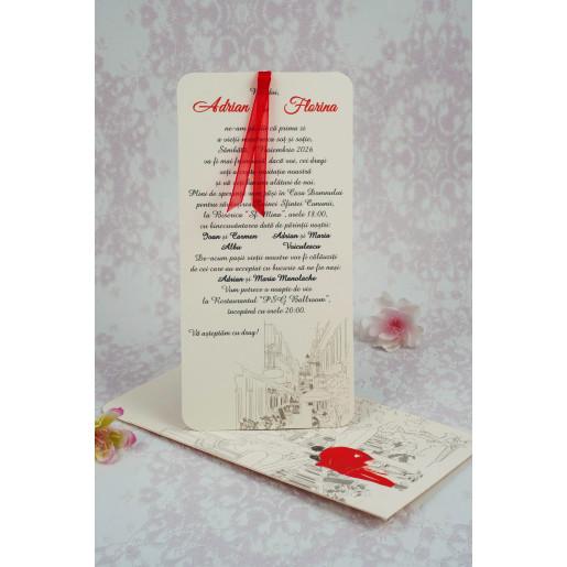 Invitatie de nunta moderna model desen grafic 2181 STYLISH