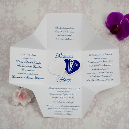 Invitatie de nunta cutie cadou 2191 STYLISH
