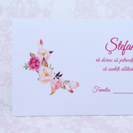 Plic pentru bani alb cu trandafiri roz 222517 POLEN