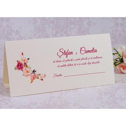 Plic pentru bani crem cu trandafiri roz 222617 POLEN