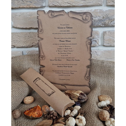 Invitatie de nunta tip papirus 2468 POPULAR