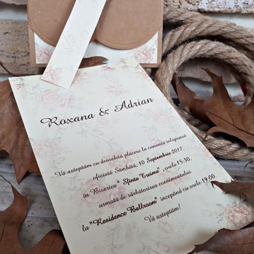 Invitatie de nunta vintage 2699 POPULAR