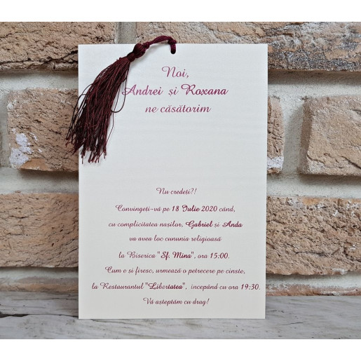 Invitatie de nunta 2745 POPULAR