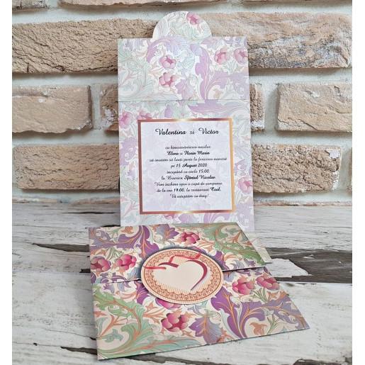 Invitatie de nunta cu tema florala 2771 POPULAR