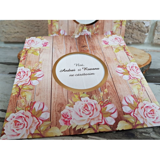 Invitatie de nunta cu tema florala 2775 POPULAR