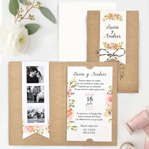 Invitatie cu detalii florale 39732 CLARA