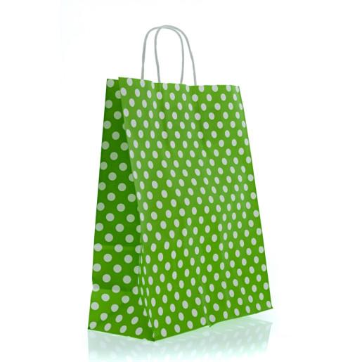Punga Z mare verde cu bulinute albe 3120700