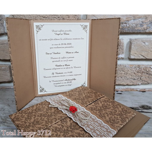 Invitatie de nunta eleganta 3712 SEDEF