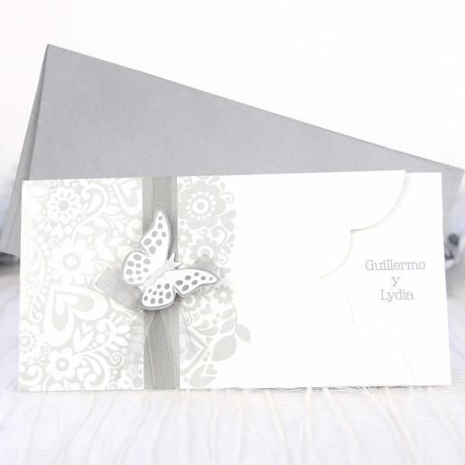 Invitatie eleganta ivory 39222 CLARA