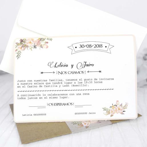 Invitatie in culori primavaratice 39224 CLARA