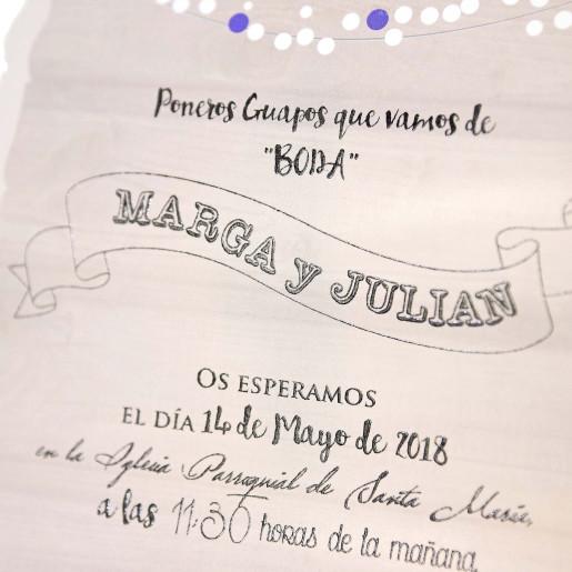 Invitatie tip pergament 39237 CLARA