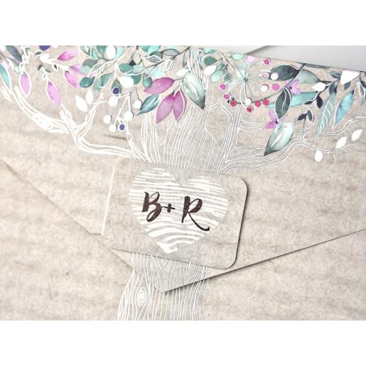 Invitatie cu copac si flori 39303 EMMA