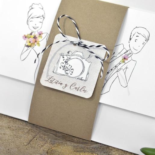 Invitatie haioasa cu miri si model floral 39322 EMMA