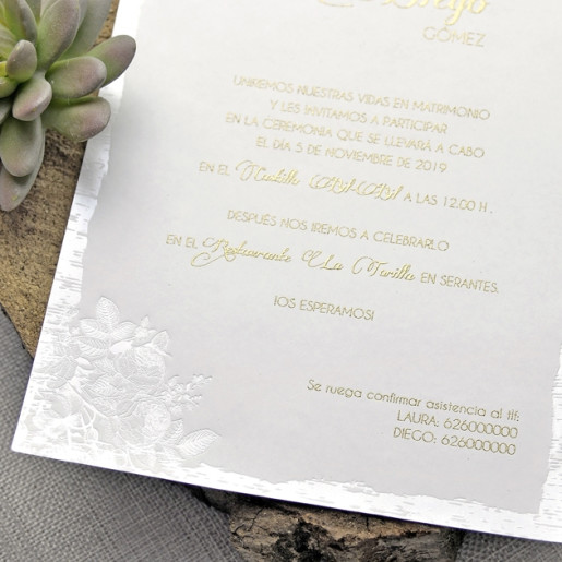 Invitatie eleganta 3D cu fluturas 39338 EMMA