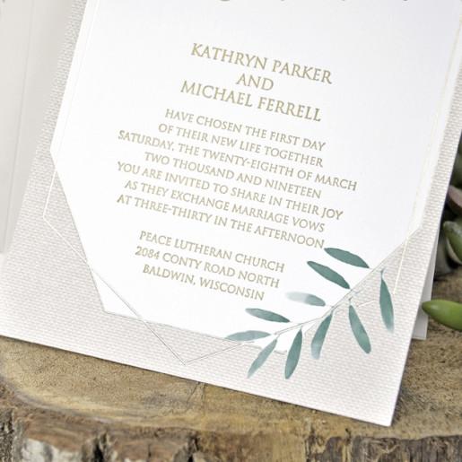 Invitatie cu tema florala 39344 EMMA