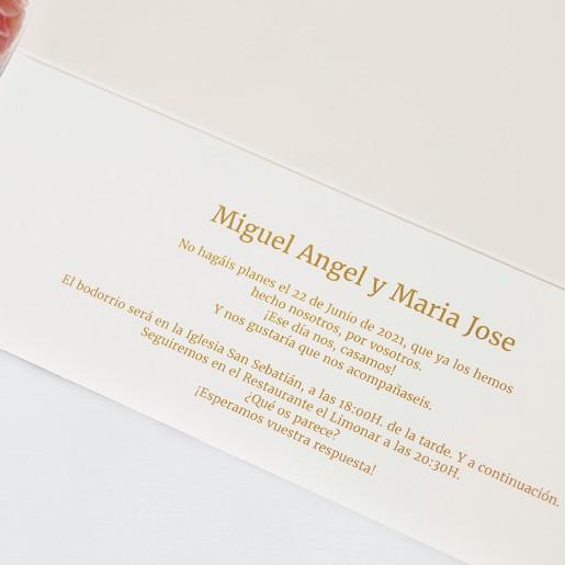 Invitatie customizabila cu fundita 39735 CLARA
