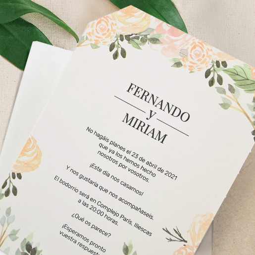Invitatie florala Just Married 39727 CLARA