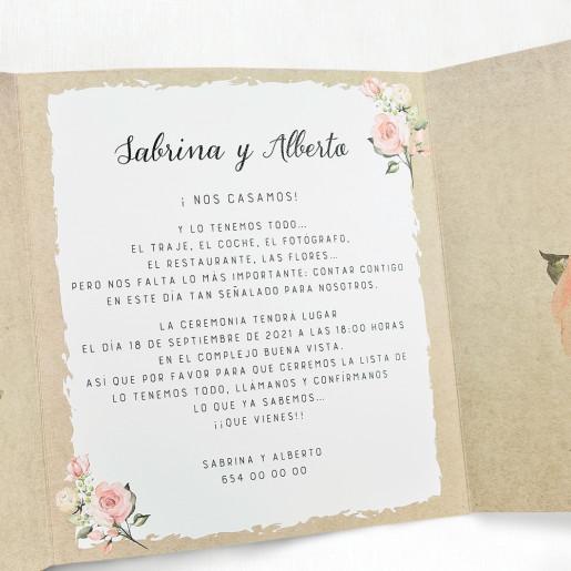 Invitatie de nunta 39705 CLARA