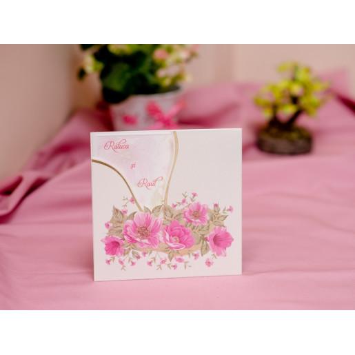 Invitatie de nunta cu flori fucsia 424 PUBLISERV