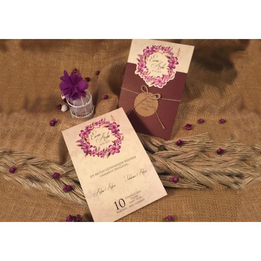 Invitatie cu flori 52513 ELA