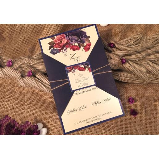 Invitatie mix floral 52530 ELA