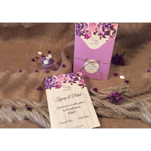 Invitatie cu model floral 52531 ELA