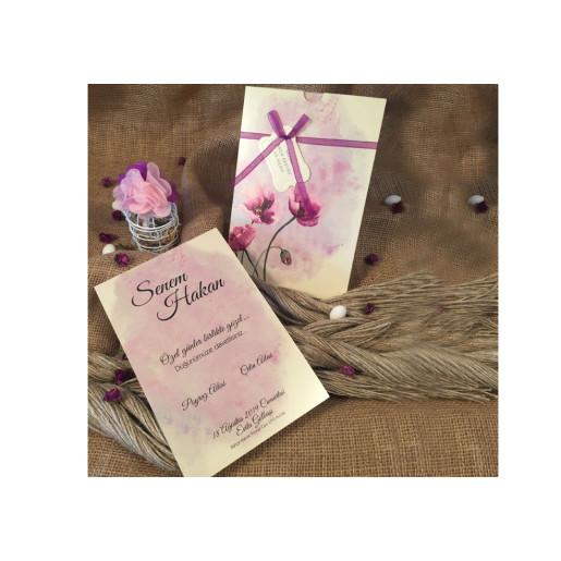 Invitatie cu flori 52538 ELA