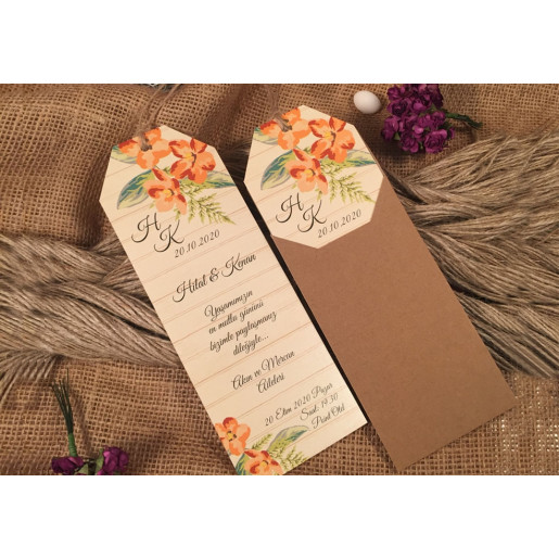 Invitatie cu motiv floral 52542 ELA