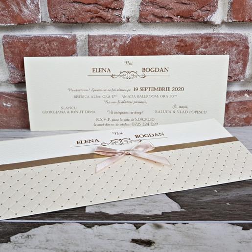 www.invitatiedenunta.ro_Invitatie_de_nunta_crem_cu_carouri_si_fundita_5438_CONCEPT