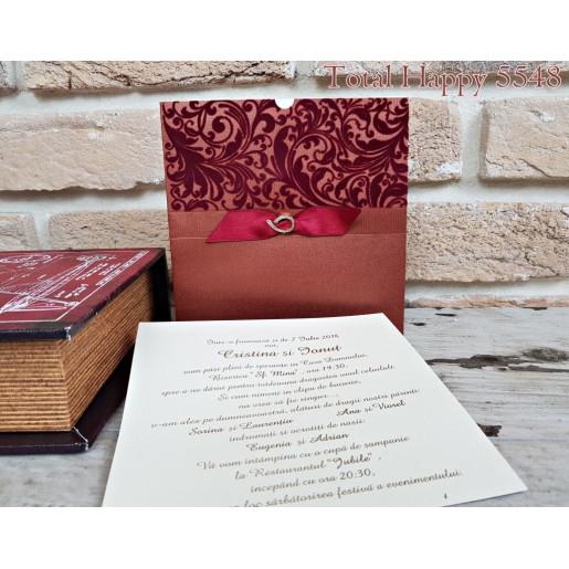 www.invitatiedenunta.ro_Invitatie_de_nunta_cu_catifea_visinie_si_fundita_5548_CONCEPT